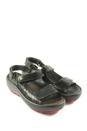 Wolky Sandale d'extérieur noir style mouillé