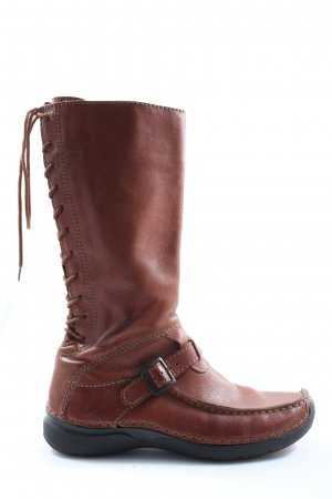 Wolky Jackboots brown casual look