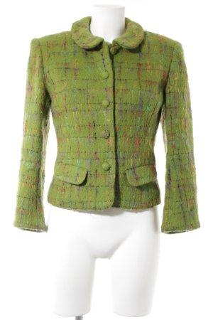 Blazer en laine vert-vert gazon style rétro