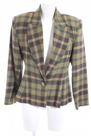 Blazer de lana estampado a cuadros estilo «business»