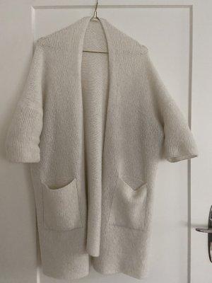 American Vintage Cardigan tricotés blanc cassé laine