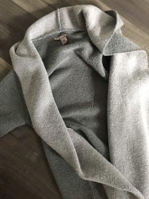 Woll-Cardigan mit Kapuze in grau Gr S/M