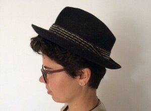 Chapeau en feutre gris anthracite-gris