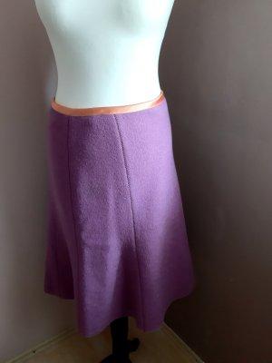 Jupe en laine violet-rose laine