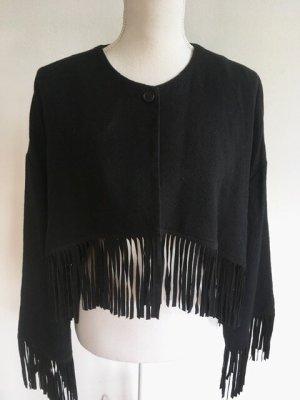 Diane von Furstenberg Short Jacket black wool