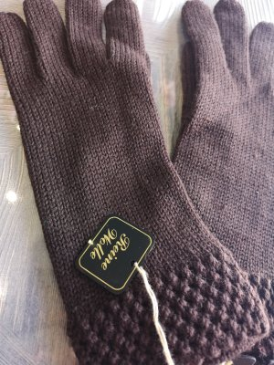 Knitted Gloves dark brown