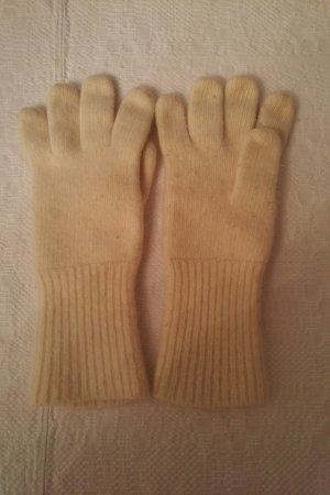 Knitted Gloves cream wool
