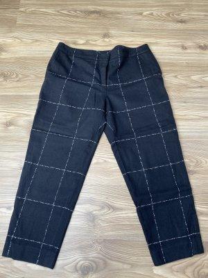 Escada Pantalon en laine blanc-noir