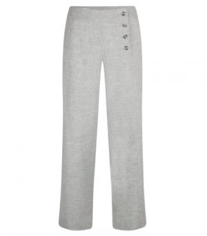Pantalone di lana grigio chiaro Lana