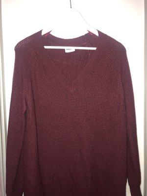 Noisy May Robe en laine bordeau