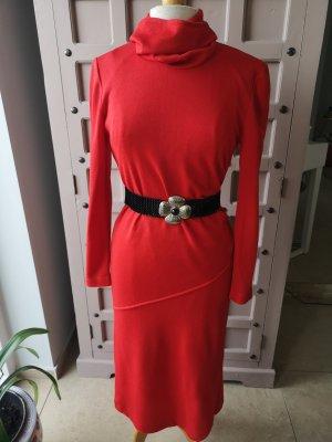 Fink Modell Vestito di lana rosso