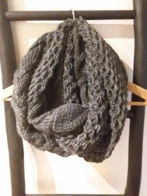 Tube Scarf dark grey wool