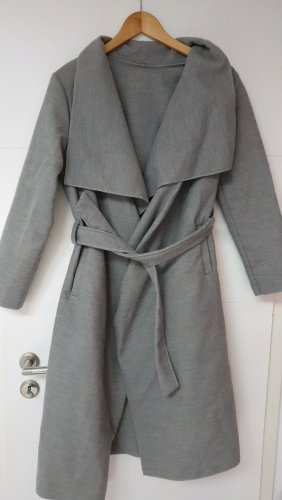 Wraparound Jacket silver-colored-light grey