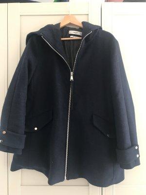 Mango casual Abrigo de lana azul oscuro