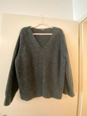 Montego V-Neck Sweater dark grey-anthracite