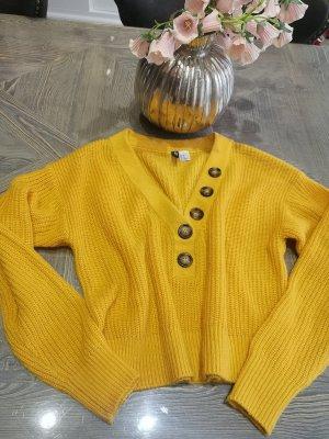 H&M Divided Sweter z grubej dzianiny złotopomarańczowy