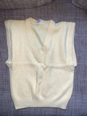 / Sweter bez rękawów z cienkiej dzianiny żółty-jasnożółty
