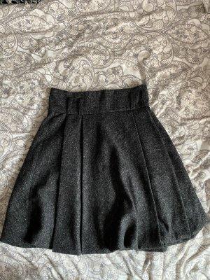 JCL Falda de lana gris oscuro