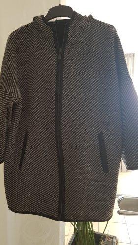 Hallhuber Cappotto a maglia nero-grigio