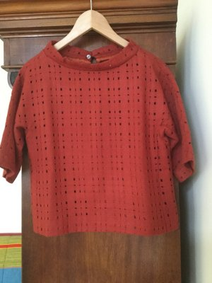 Knitted Top carmine wool