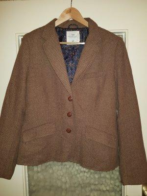 H&M L.O.G.G. Wool Blazer light brown-dark brown