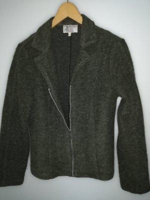Villagio Knitted Blazer olive green wool