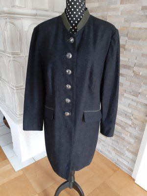 ae elegance Long Blazer black-dark grey new wool
