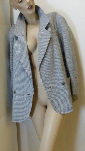 Wełniany sweter ciemnoniebieski-biały Wełna