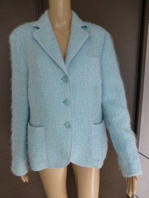 Delmond Wool Blazer azure mixture fibre