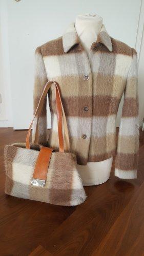 Olsen Blazer in lana marrone-sabbia Lana vergine