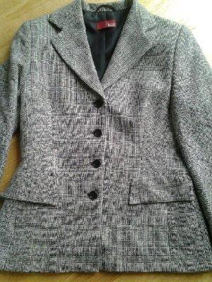 andere Marke Wool Blazer black-natural white wool