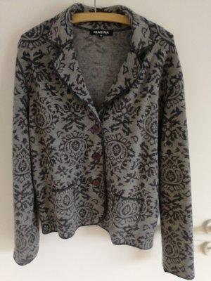 Clarina Knitted Blazer grey-dark grey