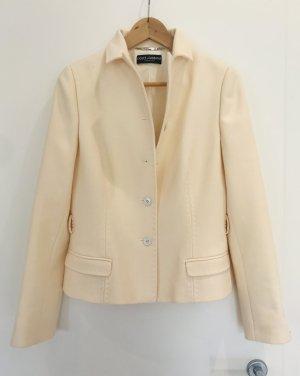 Dolce & Gabbana Short Blazer natural white wool
