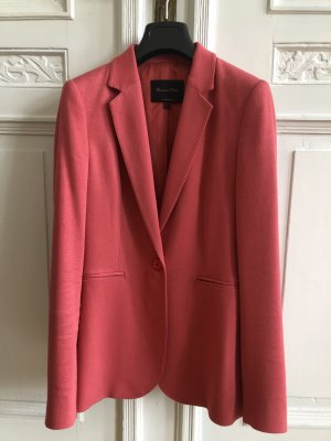 Massimo Dutti Wool Blazer raspberry-red-pink
