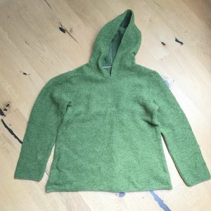 Wolle Kaputzenpullover neuwertig organic - Grün - Gr 40/42