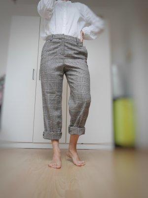 Massimo Dutti Woolen Trousers grey-nude wool