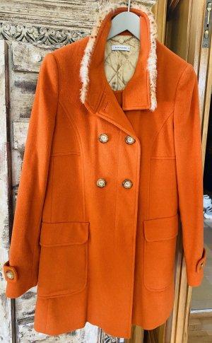 René Lezard Wool Coat dark orange
