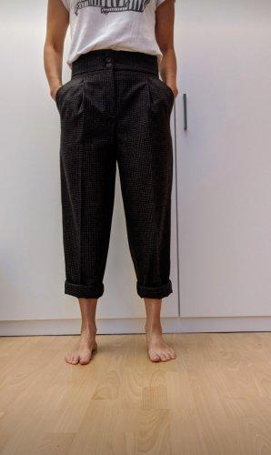 Massimo Dutti Pantalón de lana negro-taupe Lana