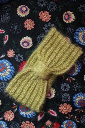 Earmuff olive green angora wool