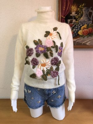 Modern vintage Pull en laine multicolore