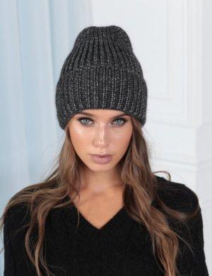 keine Cappello a maglia grigio scuro-antracite