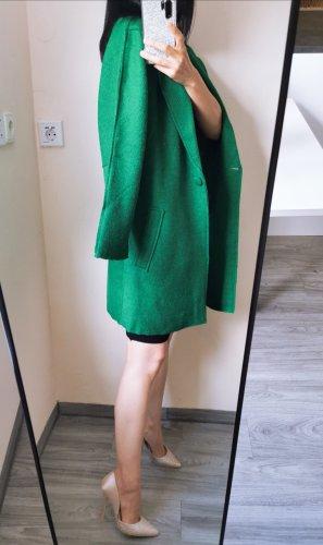 Wollen doppleface face over size ubergrosse Mantel Emerald Smaragd