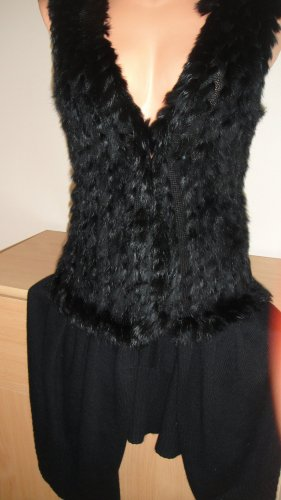 Soyaconcept Gilet tricoté noir laine alpaga