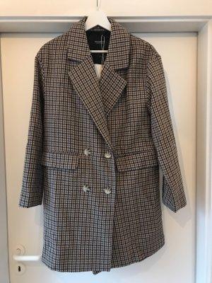 Pull & Bear Cappotto in lana marrone scuro