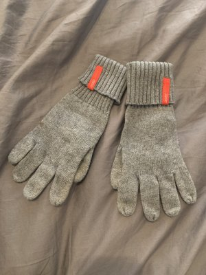 Esprit Gebreide handschoenen grijs