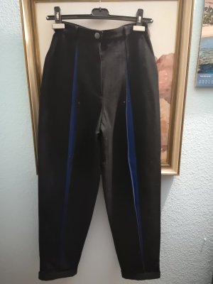 Woolen Trousers black-blue wool