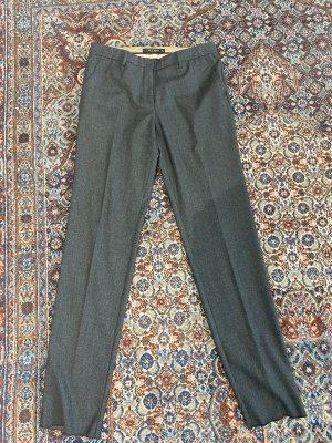 Etro Wełniane spodnie antracyt