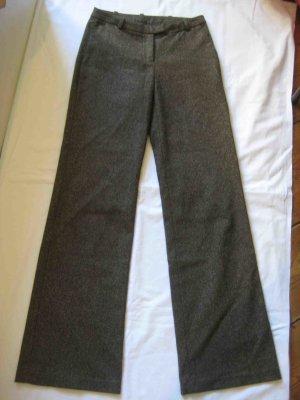 Wollhose, gerader Schnitt, braun-mehliert - casual Look