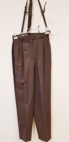 Pantalone di lana marrone scuro