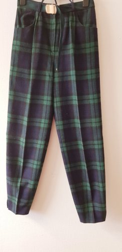 Pantalone di lana blu scuro-petrolio